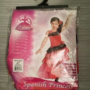 NEW Girls SPANISH PRINCESS costume size M